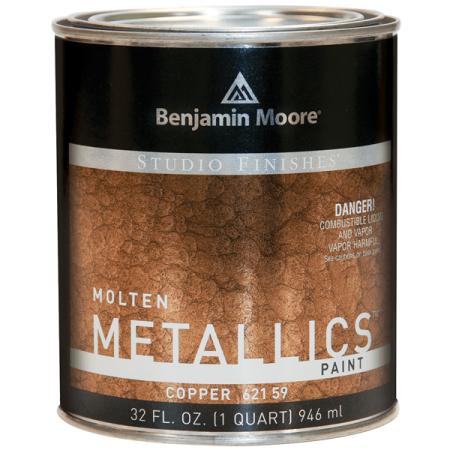 Benjamin Moore Studio Finishes Molten Metallics (621), Copper, 32oz (1 Quart)