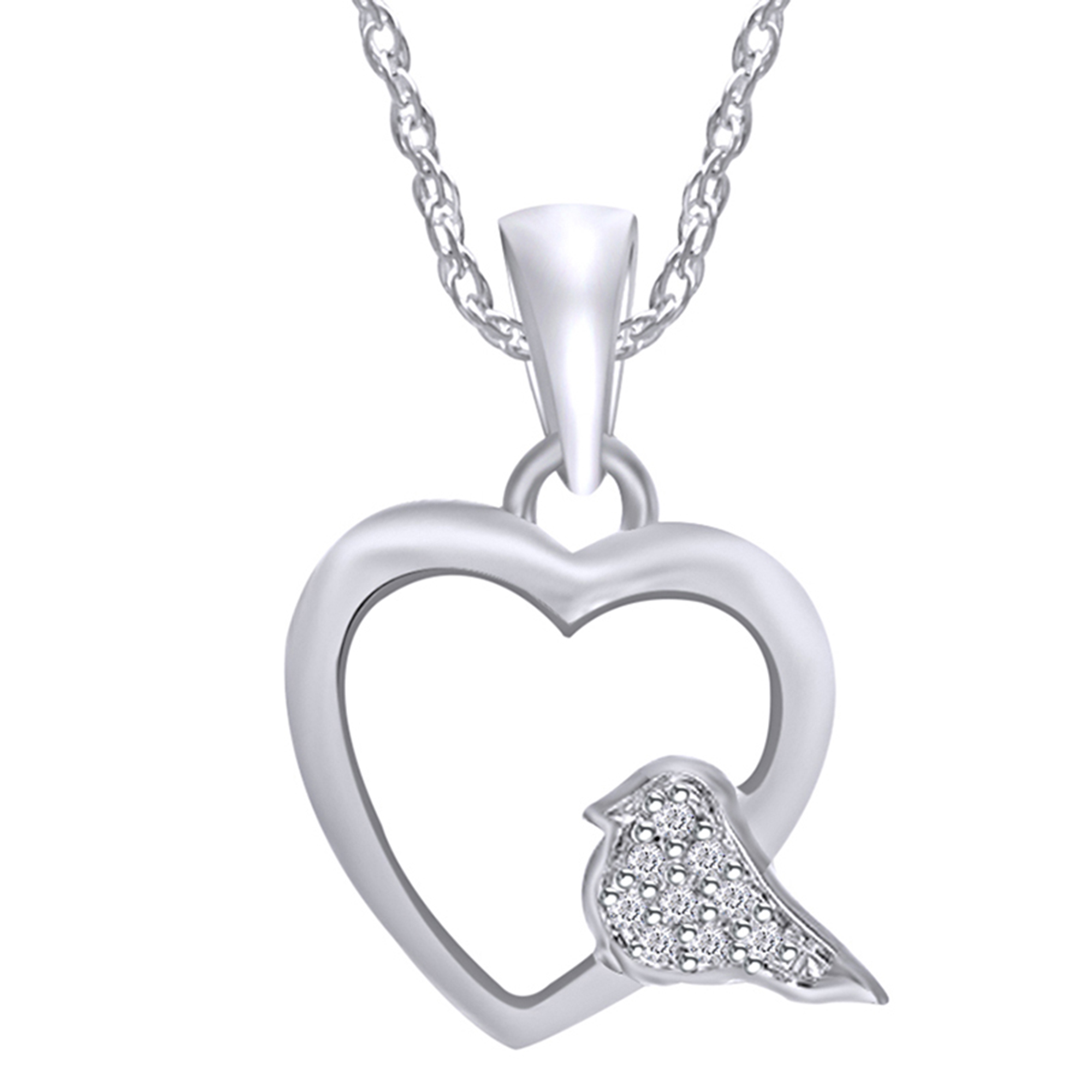 Wishrocks 14K Gold Over Sterling Silver Black Diamond Accent Musical Note Pendant Necklace
