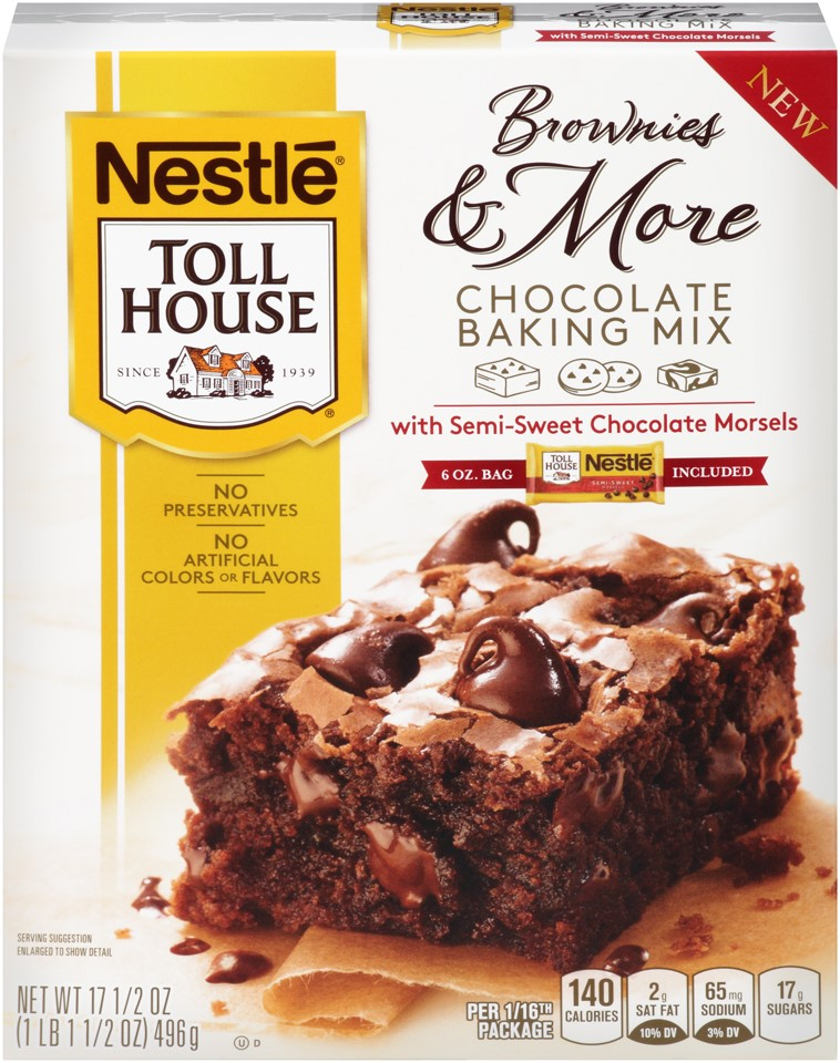 Nestle TOLL HOUSE Brownies & More Chocolate Baking Mix with Semi-Sweet Chocolate Morsels,... by Nestle
