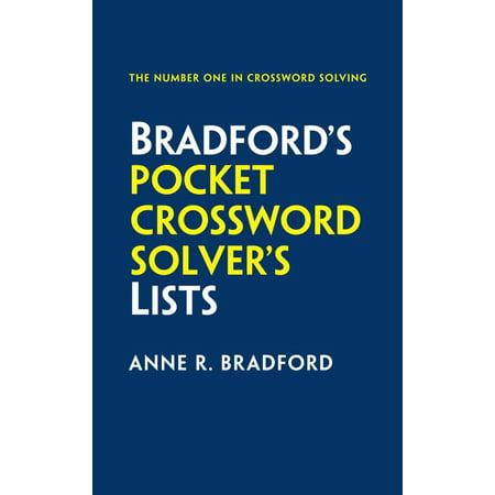 Bradford's Pocket Crossword Solver's Lists - Halloween Crossword Solver