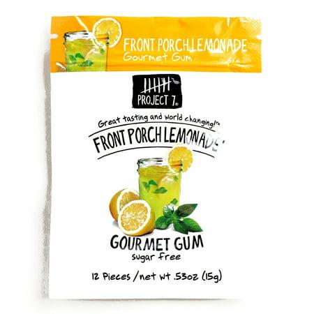 Project 7 Lemonade Sugar Free Gum  .53 oz each (1 Item Per Order) ()