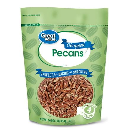 Pecan Nut Cake - Great Value Chopped Pecans, 16 oz