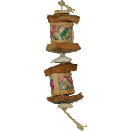 JAVA WOOD SURPRISE DRUM BIRD TOY (Drum Bird Toy)