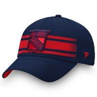 New York Rangers Fanatics Branded Iconic Stripe Speed Flex Hat - Blue/Red
