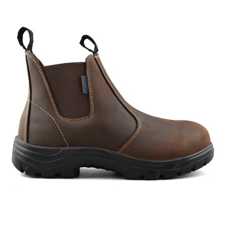 60935e6ddfc Rocky Moose Men's Leather Waterproof Soft Toe Winter Boots Light Weight 3M  Thinsulate Slip On Work Boots - Builder