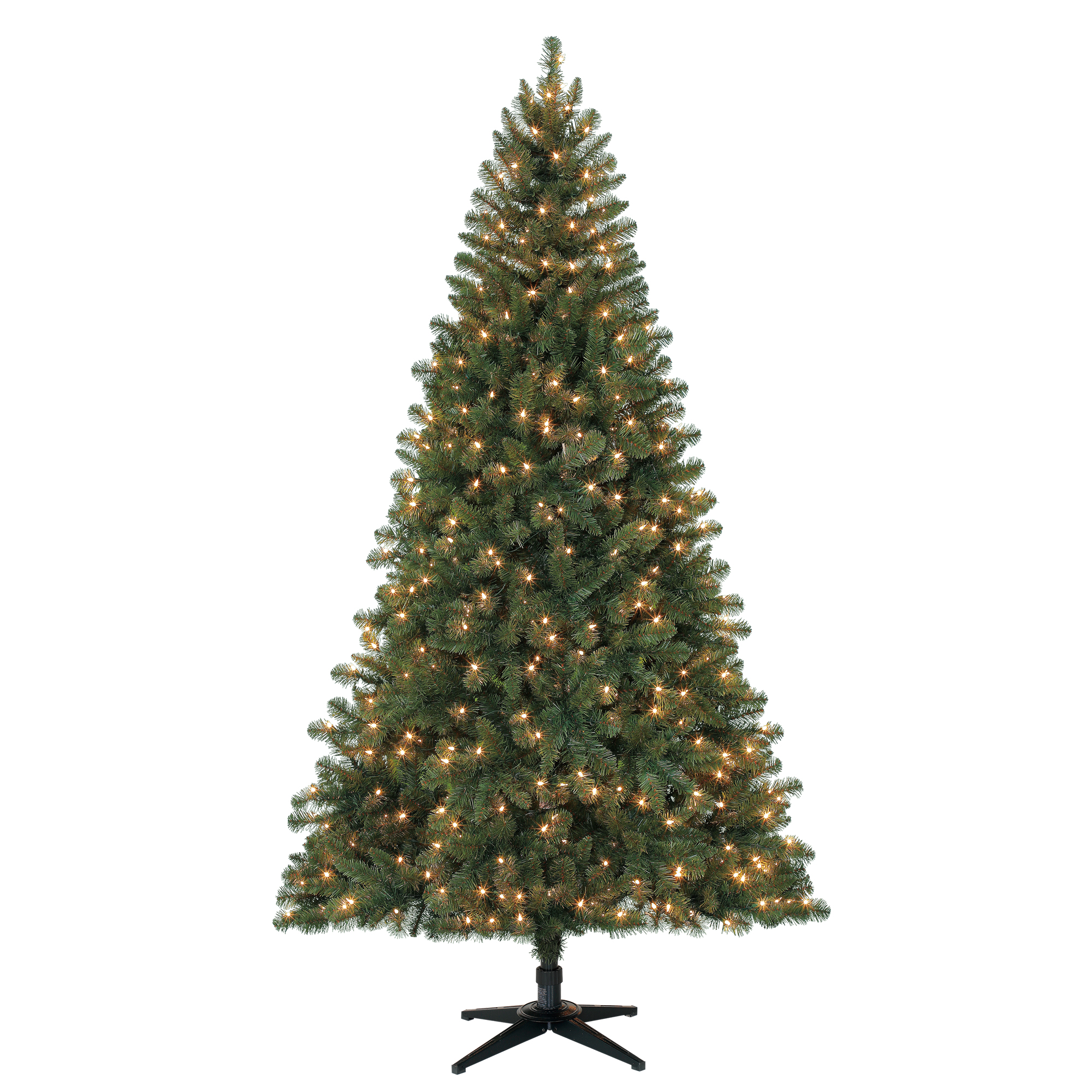 Holiday Time 7ft Pre-Lit Duncan Fir Artificial Christmas Tree with 450 Clear Lights - Green