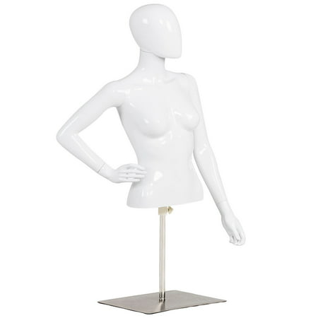 Costway Female Mannequin Realistic Torso Half Body Head Turn Dress Form Display - Cosplay Female Characters