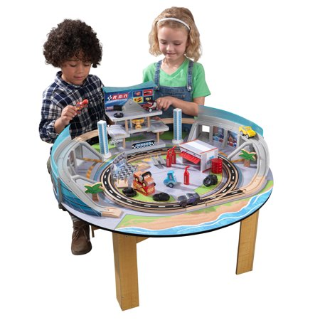 Kidkraft Track (Disney® Pixar Cars 3 Florida Racetrack Set & Table By KidKraft with 54 accessories included )