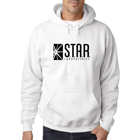 New Way 1171 - Adult Hoodie Star Laboratories Labs Comic Hero Sweatshirt XL White - Lamb Hoodie