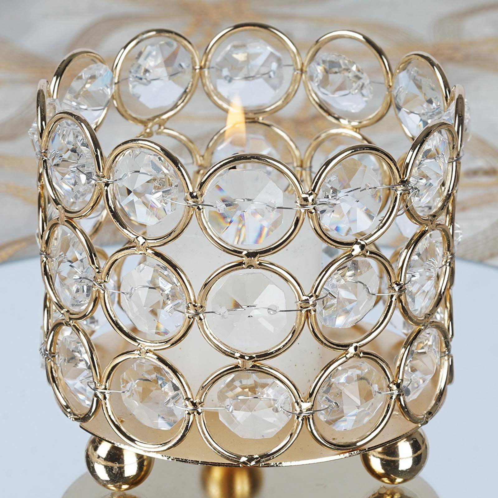 Balsacircle 2 75 Inch Tall Crystal Tealight Votive Candle