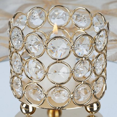 BalsaCircle 2.75-Inch tall Crystal Tealight Votive Candle Holder - Wedding Party Table Home Dining Decorations Centerpieces ()