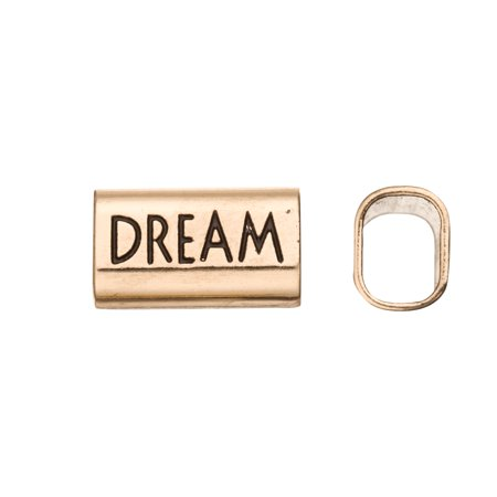 1.5 Focal Finish (Dream Word Licorice Focal Fits 10x8mm Licorice Leather - Antique Gold)