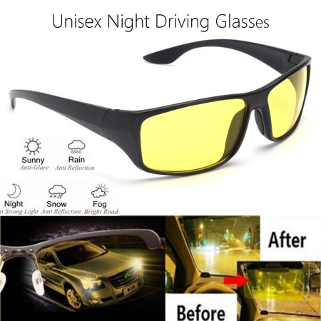 Asewin Night Driving Polarized Glasses for Men Women Anti Glare Rainy Safe HD Night Vision HOT Fashion Sunglasses UV 400 Eye Protecting Glasses (Yellow Eye Glasses)