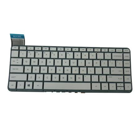 White Keyboard for HP Stream 13-C Laptops - No Frame (Hp Stream 7 Tablet Case Keyboard)