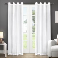 Exclusive Home Curtains 2 Pack Chatra Faux Silk Grommet Top Curtain Panels