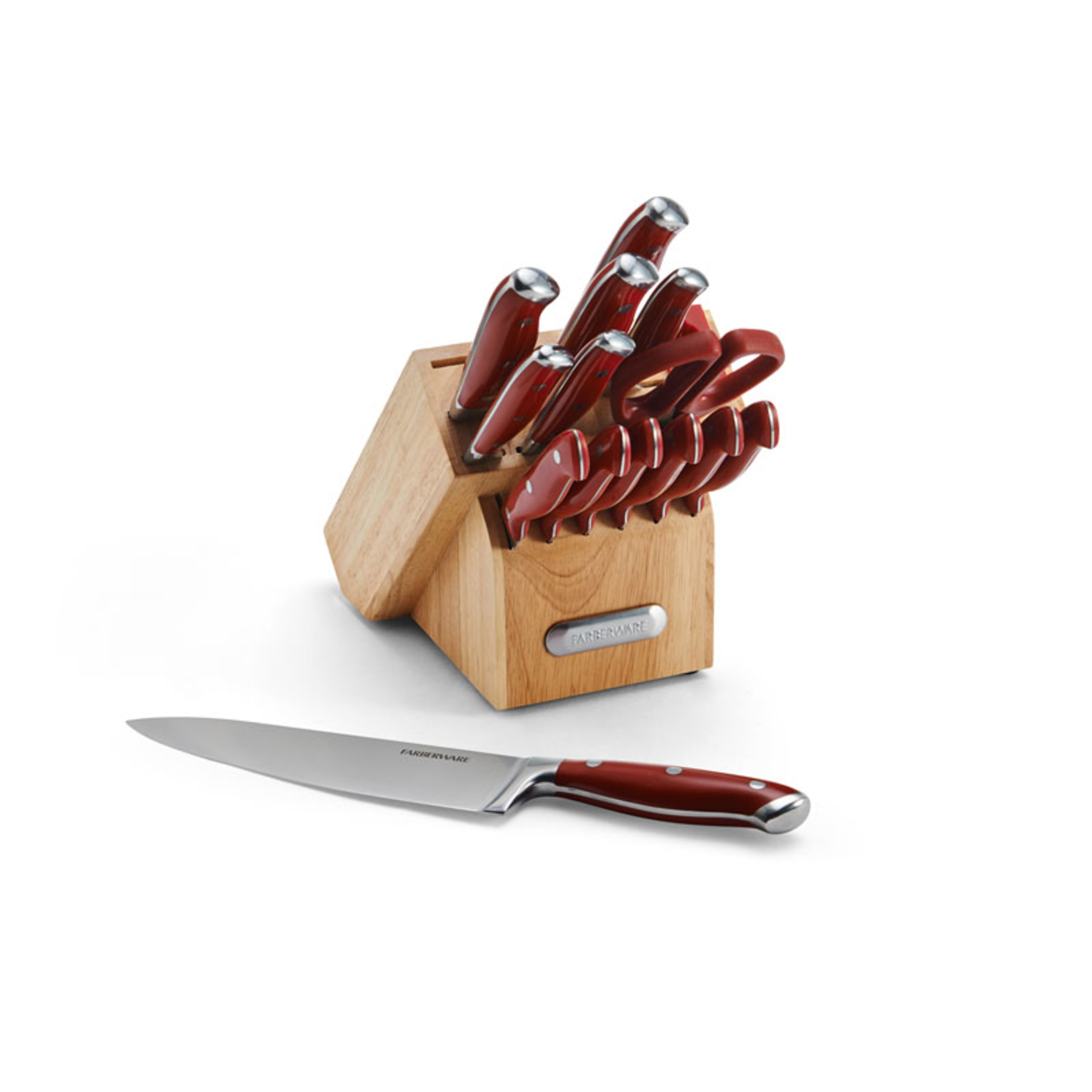Farberware Edgekeeper 15-Piece Forged Triple-Riveted Knife Set by Lifetime Brands