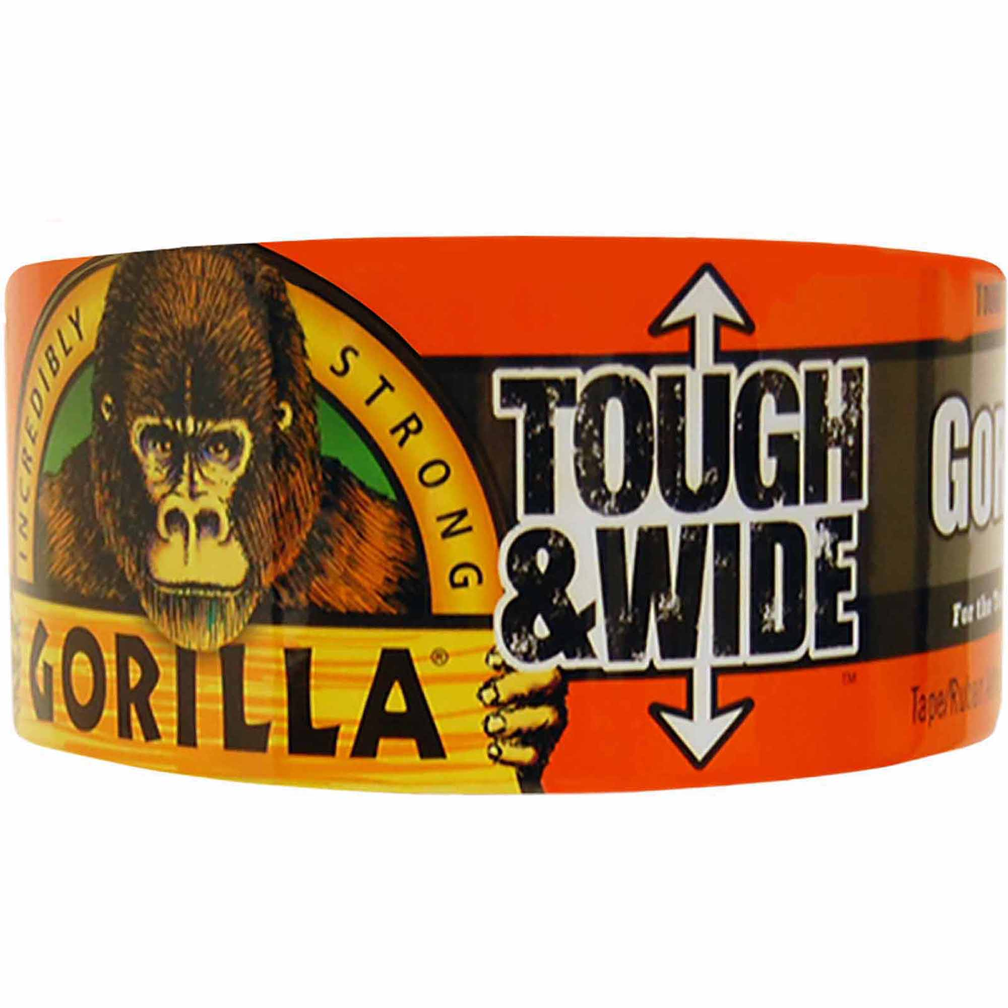 Gorilla Tape Tough and Wide Roll, Black, 30 yds
