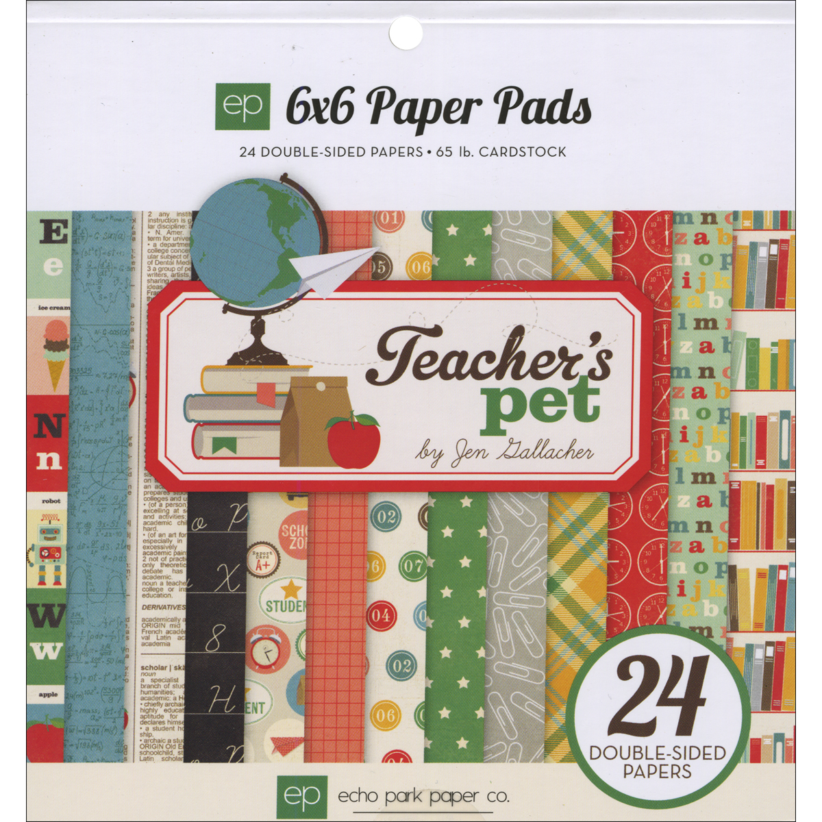 "Echo Park Double-Sided Paper Pad 6""X6"" 24/Pkg-Teacher's Pet"