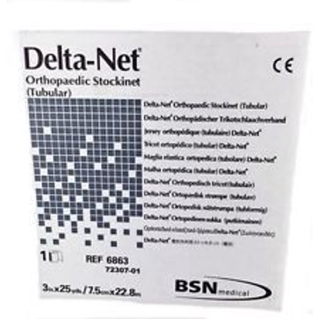 Bsn Medical Delta Net Orthopedic Synthetic Stockinette  4 X 25 Yds  Synthetic Fiber  Latex Free  1 Count