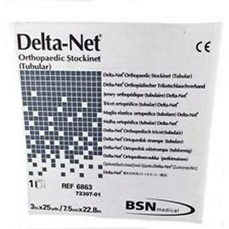 Orthopedic Stockinette - BSN Medical Delta-Net Orthopedic Synthetic Stockinette  4'' x 25 yds, Synthetic Fiber, Latex-free, 1 Count
