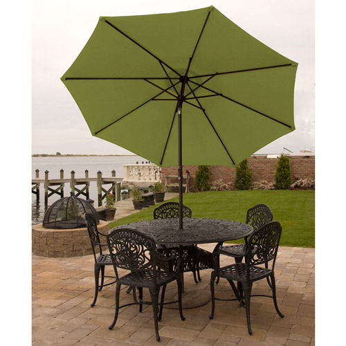 Bliss Hammocks 9' Aluminum Market Umbrella with Crank and Tilt Features by Bliss Hammocks