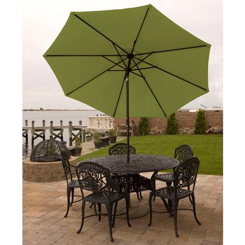 Bliss Hammocks 9' Aluminum Market Umbrella with Crank and Tilt Features by Outdoor Umbrellas