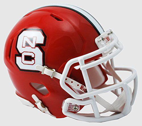 NORTH CAROLINA STATE WOLFPACK NCAA Revolution SPEED Mini Football Helmet NCSU (RED) By Riddell