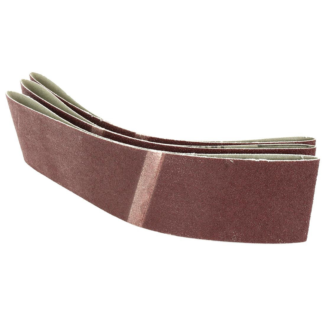 3-Inch x 21-Inch 100 Grit Lapped Butt Joint Aluminum Oxide Sanding Belt 3pcs - image 1 of 3