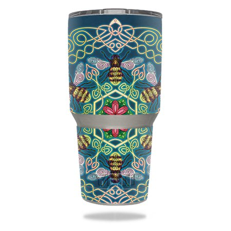 Skin For YETI 30 oz Tumbler - Celtic Bees | MightySkins Protective, Durable, and Unique Vinyl Decal wrap cover | Easy To Apply, Remove, and Change (Best Vinyl To Use On Yeti Cups)