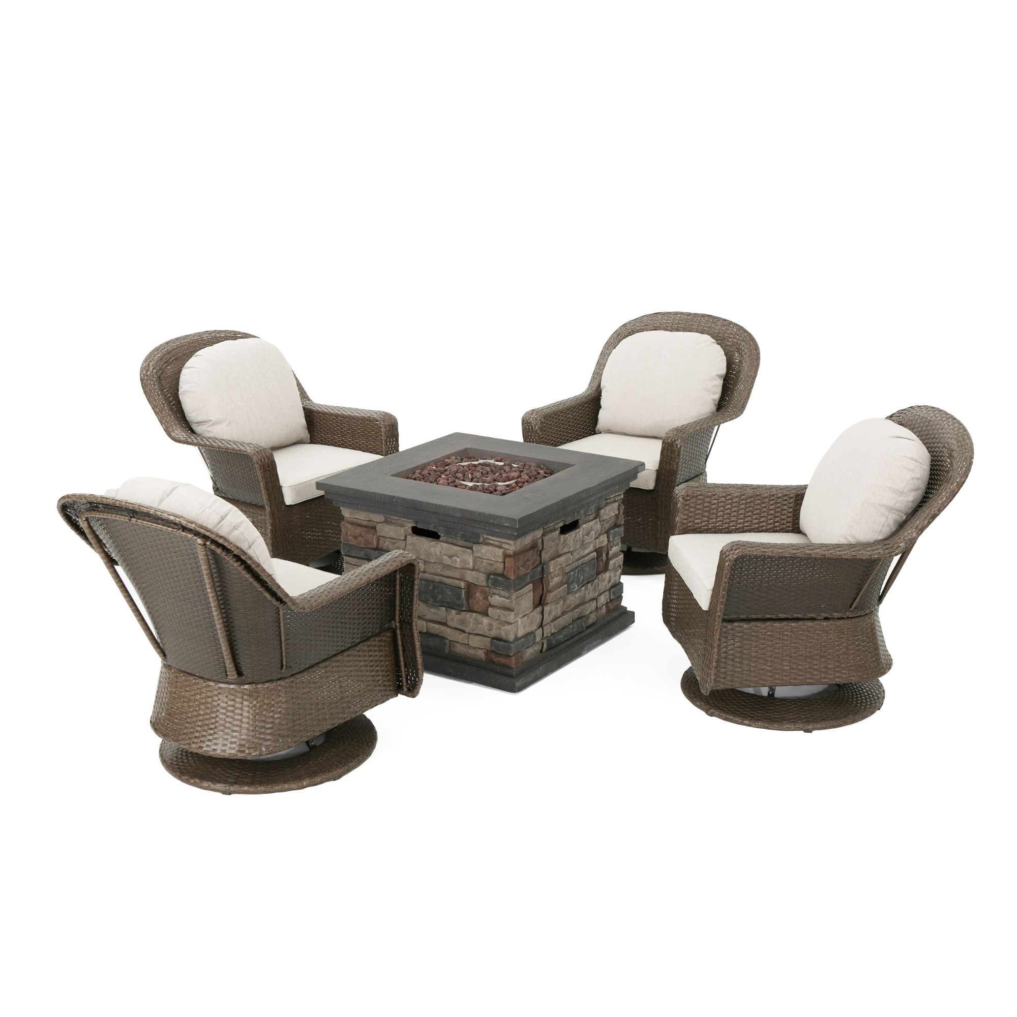 Belham Living Brevick Collection Fire Pit Conversation Set Dealepic