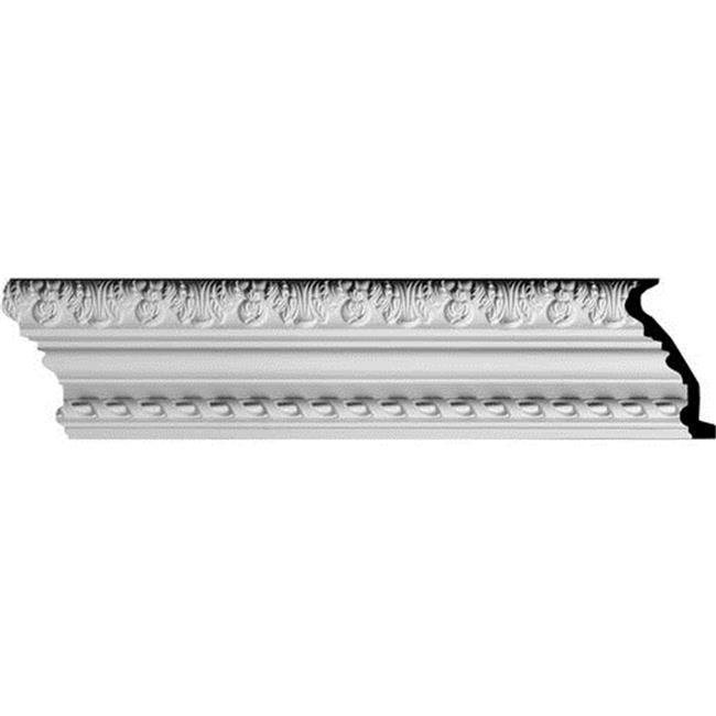 Ekena Millwork MLD06X03X06LO 5. 88 inch H x 2. 62 inch P x 6. 38 inch F x 96 inch L, 4 inch Repeat Loera with Rope Moulding