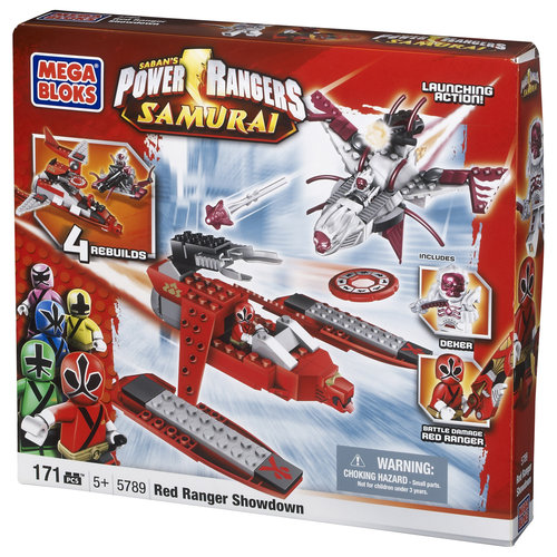 Power Rangers Samurai Red Ranger Showdown Set Mega Bloks 5789