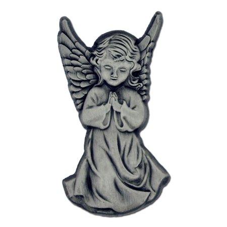 Antique Silver Praying Angel Spiritual Lapel Pin
