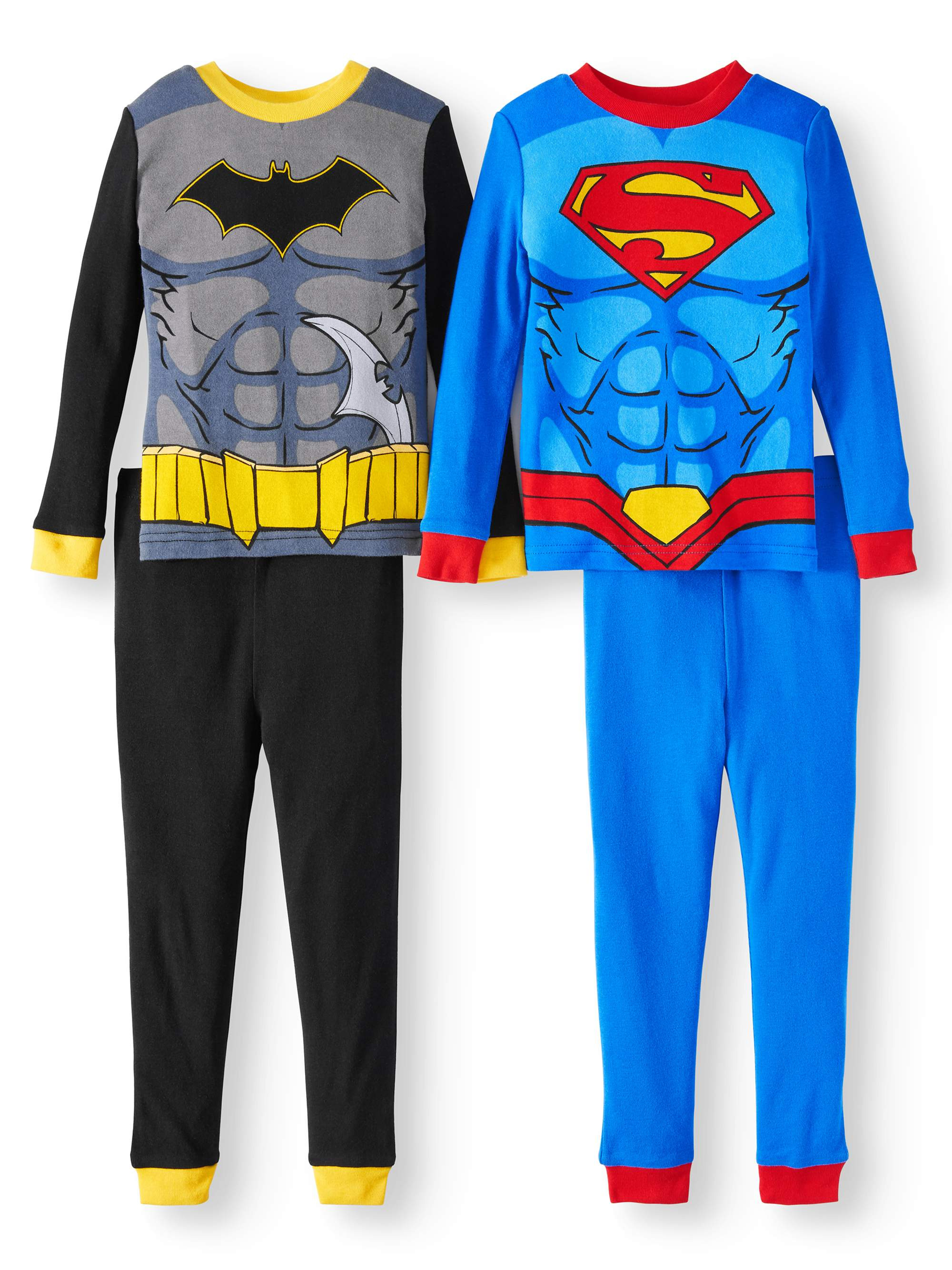 New Toddler Boys Knit 4 Piece Batman Pajama Set Size 5T