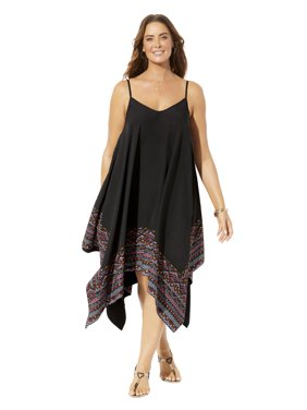 Swimsuits For All Women's Plus Size Handkerchief Dress Cover Up