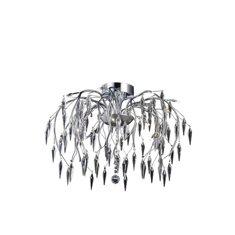 "Elegant Lighting Amour 28"" 16 Light Elegant Crystal Flush Mount"