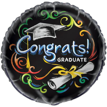 Foil Chalkboard Graduation Balloon, 18in ()