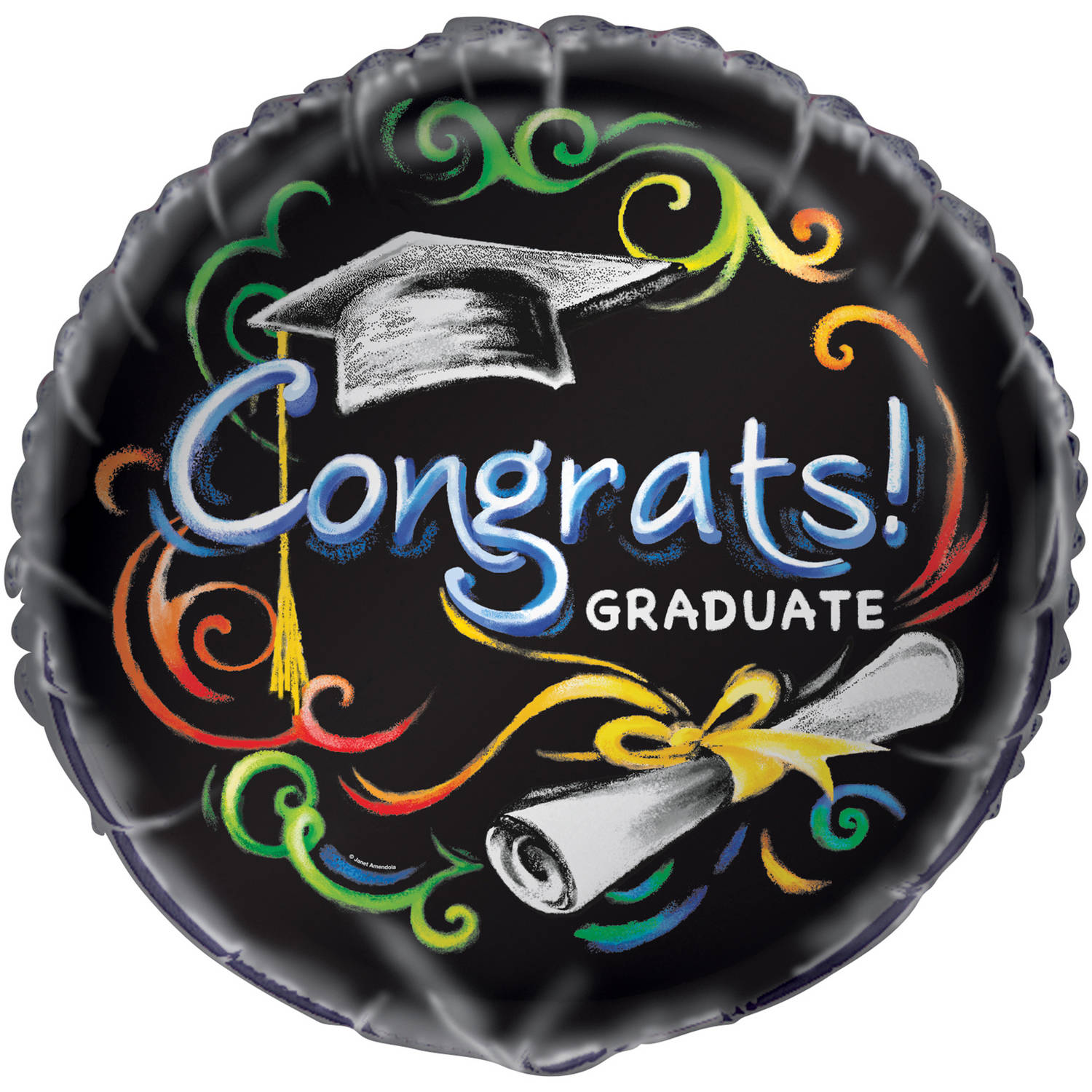 Foil Chalkboard Graduation Balloon, 18 in, 1ct