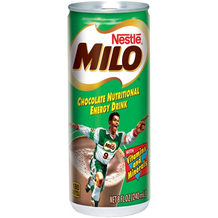 Nestle Milo Chocolate Nutritional Energy Drink 8 Fl  Oz  Cans