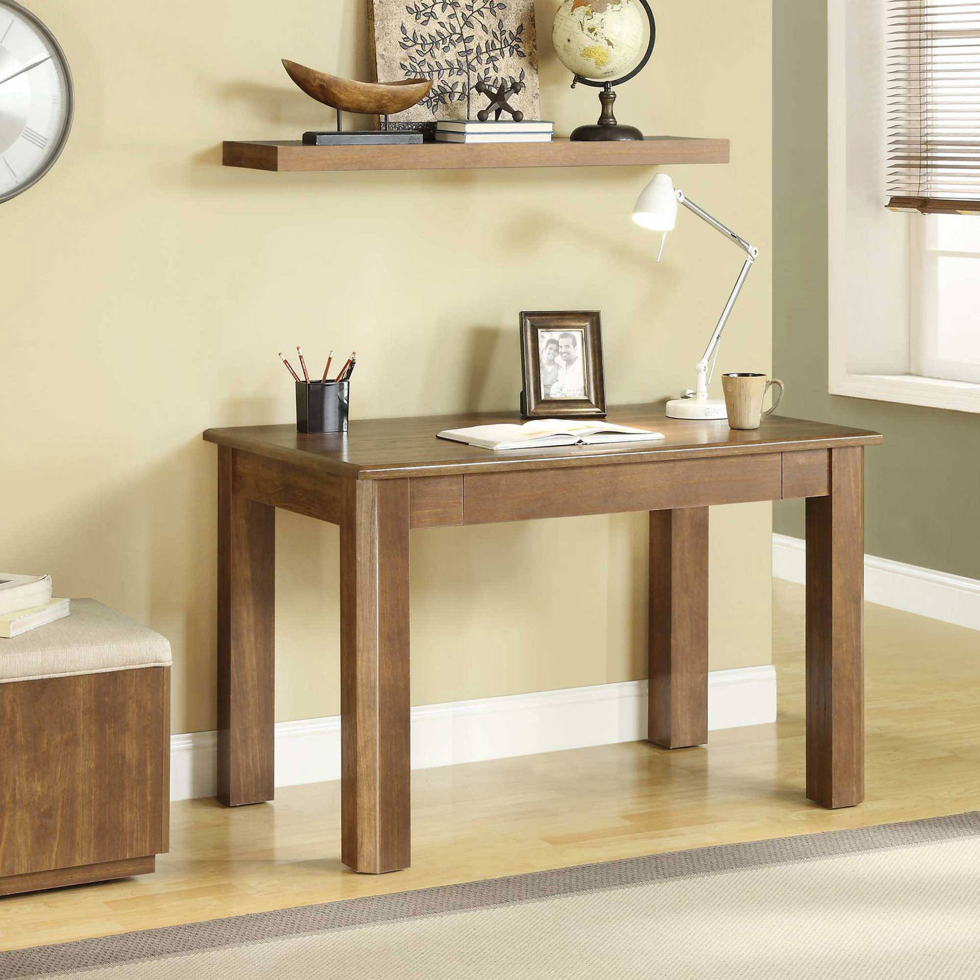 Renai Home/Office Desk, Dark Walnut