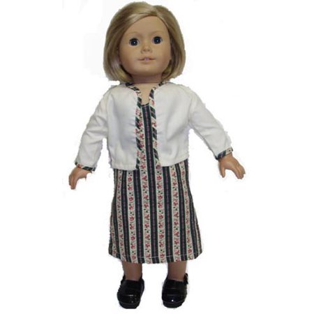 Colonial Dress and Jacket Doll Clothes fits 18 inch doll