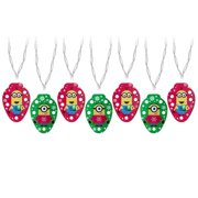 Universal String Lights 7-Count 2.9-ft White LED Battery-Operated Indoor Christmas String Lights