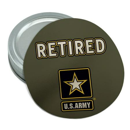U.S. Army Retired Logo Round Rubber Non-Slip Jar Gripper Lid Opener