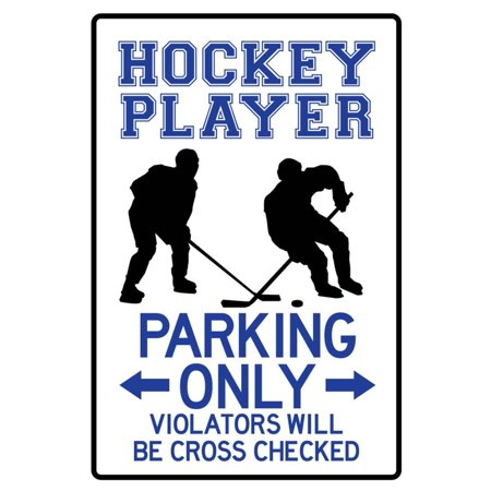 Hockey Player Parking Only Poster - 13x19](Hockey Player Halloween)