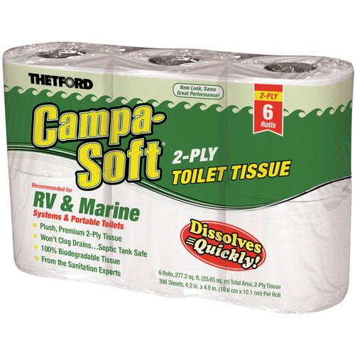 Thetford Campa RV & Marine Toilet Paper, 6 Rolls