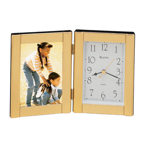 Bulova Forte I Picture Frame with Clock