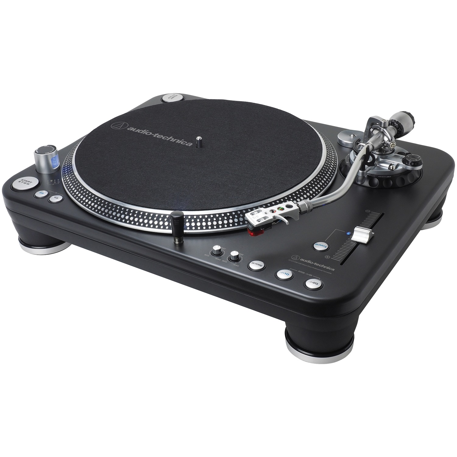 Audio-Technica AT-LP1240-USBXP Direct-Drive Professional Dj USB & Analog Stereo Turntable by Audio-Technica