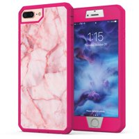 bc496c03526 Product Image iPhone 7 Plus Marble Case, True Color Pink Marble [Stone  Texture Collection] Heavy