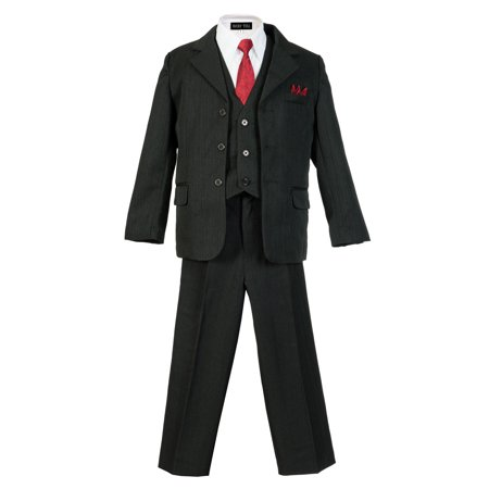 Avery Hill Boys Pinstripe Suit Set with Matching Tie (Toddler, Little Boys, Big Boys) ()