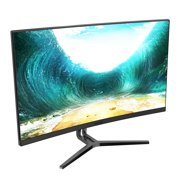 VIOTEK NB24CB 24-Inch LED Curved Monitor with Speakers, Bezel-less Display, 75Hz 1080P Full-HD
